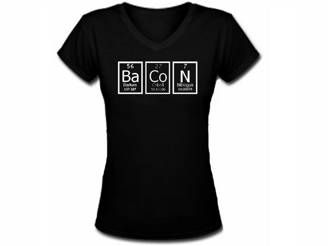 Periodic table apparel my cool t shirt bacon periodic table click to enlarge urtaz Image collections