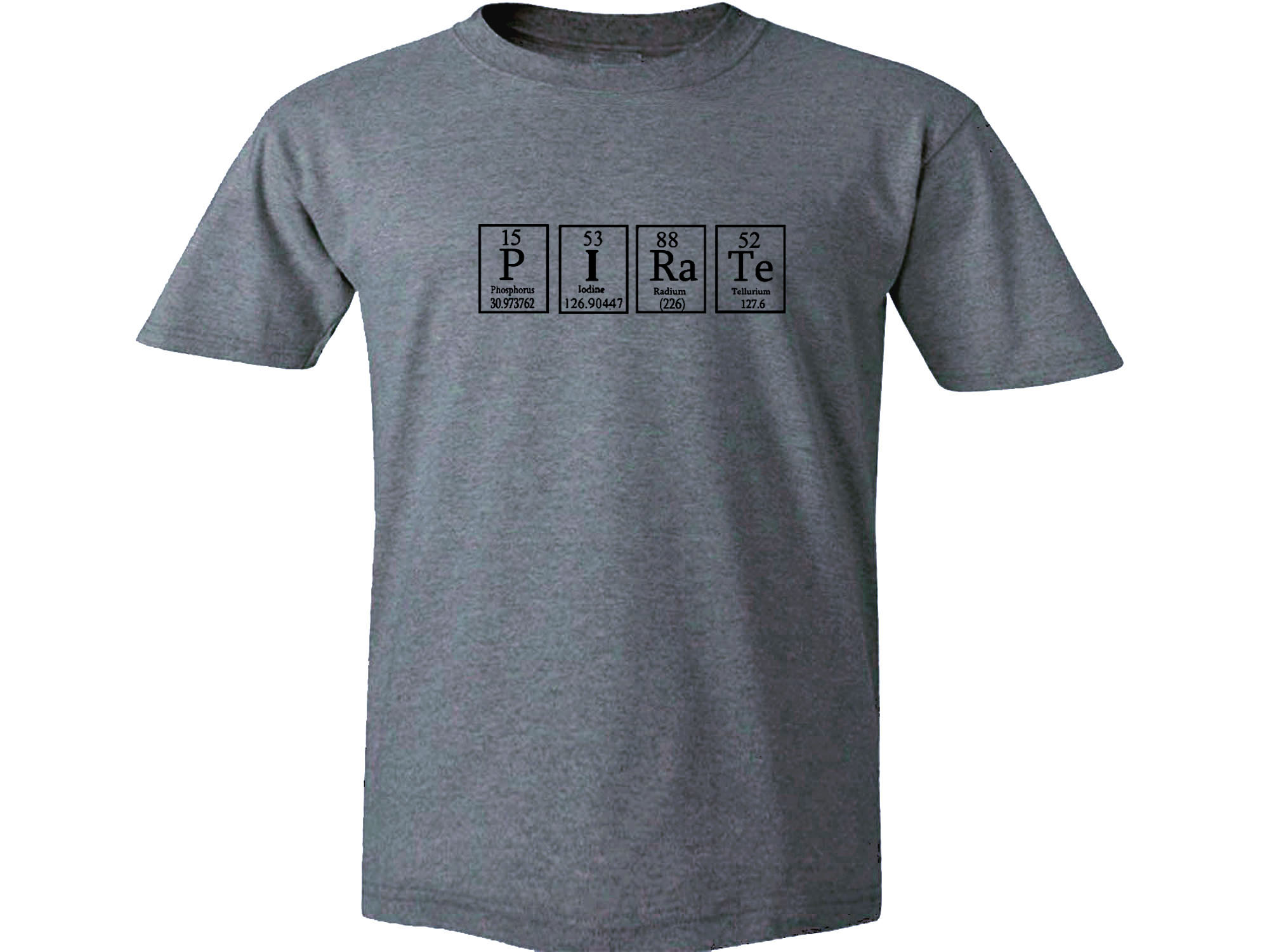 Periodic table apparel my cool t shirt pirate periodic table of pirate periodic table of elements gray t shirt click to enlarge urtaz Image collections