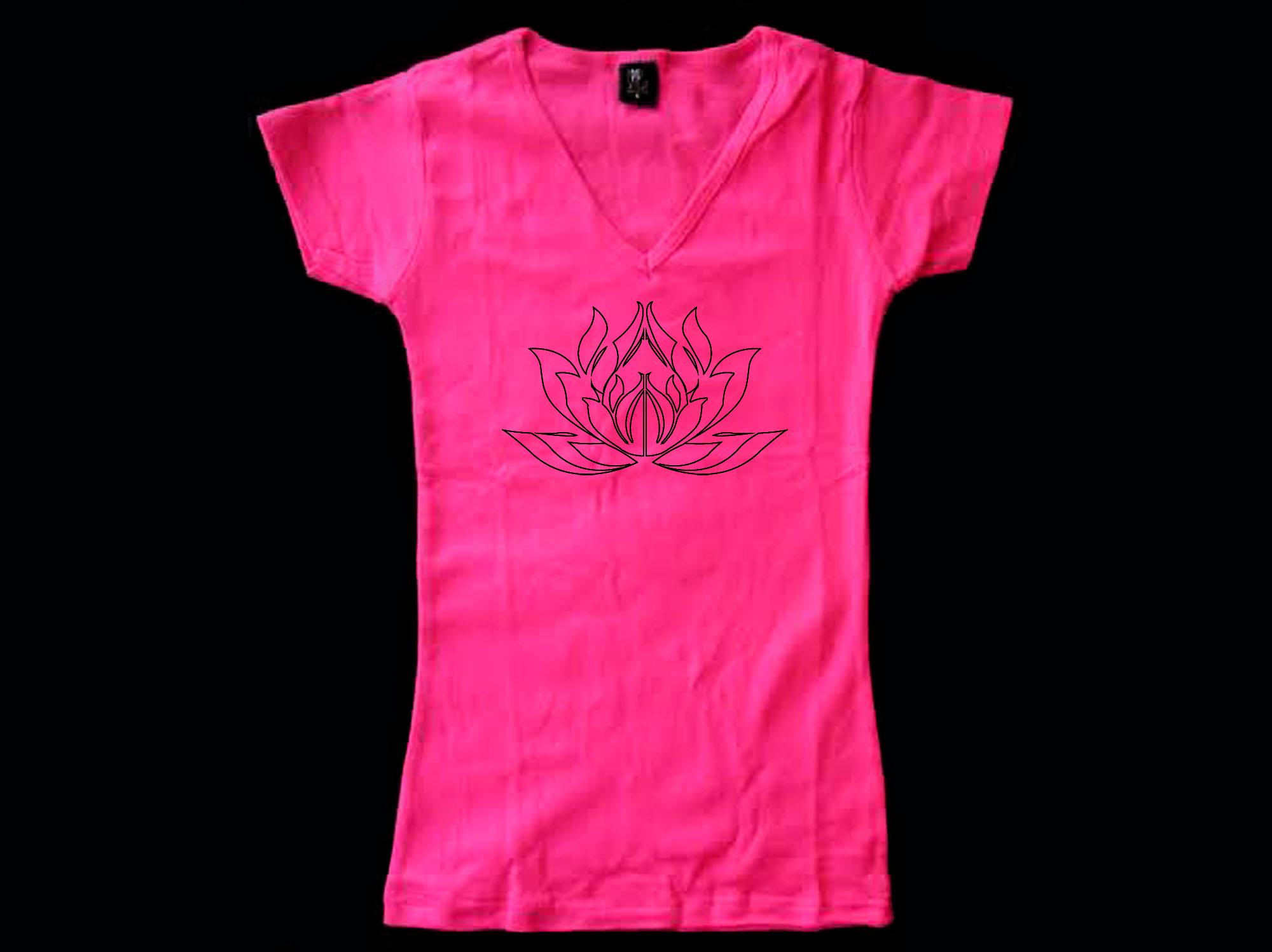 Oga Female T Shirts My Cool T Shirt Lotus Flower T Shirt Yoga